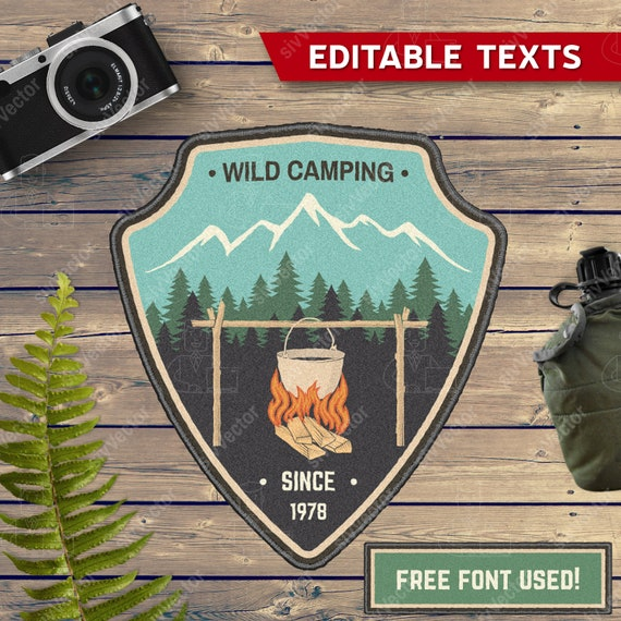 Wild Camping Svg Patch Digital Cricut Custom Outdoors Svg Etsy