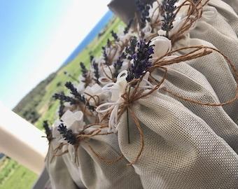 Homemade organic Lavender sachets