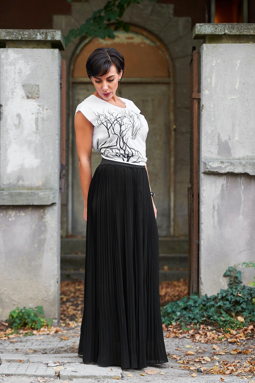 4fa2ac24e6 Pleated Maxi Skirt - Long Flowy Skirt - High Waisted Skirt - Floor Length  Skirt - Bridesmaid Skirt - Long Circle Skirt - Victorian Skirt