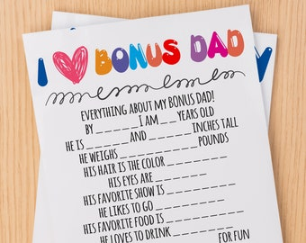 Bonus Dad Card Etsy