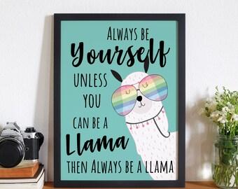 Llama Quote Etsy