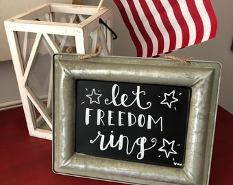Let Freedom Ring Chalk Art