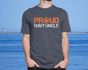 c0855e80c6e Proud US Navy Uncle - Men s Ultra Soft Comfort Short Sleeve Tee - Uncle s  Military Pride Shirt - Navy Seaman Uncle