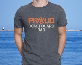 7fa512fd Proud Coast Guard Dad - Men's Ultra Soft Comfort Short Sleeve Tee - Dad's  Military Pride Shirt