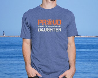 60226760 Proud Father of a Coast Guard Daughter - Men's Ultra Soft Comfort Short  Sleeve Tee - Dad's Military Pride Shirt