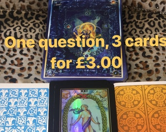 1 question 3 cards 3.00GBP