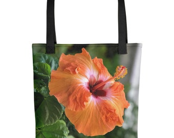 Hibiscus Flower Tote Etsy