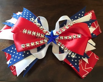 "20% off!!! Super Cute 5"" 4th of July Bow"