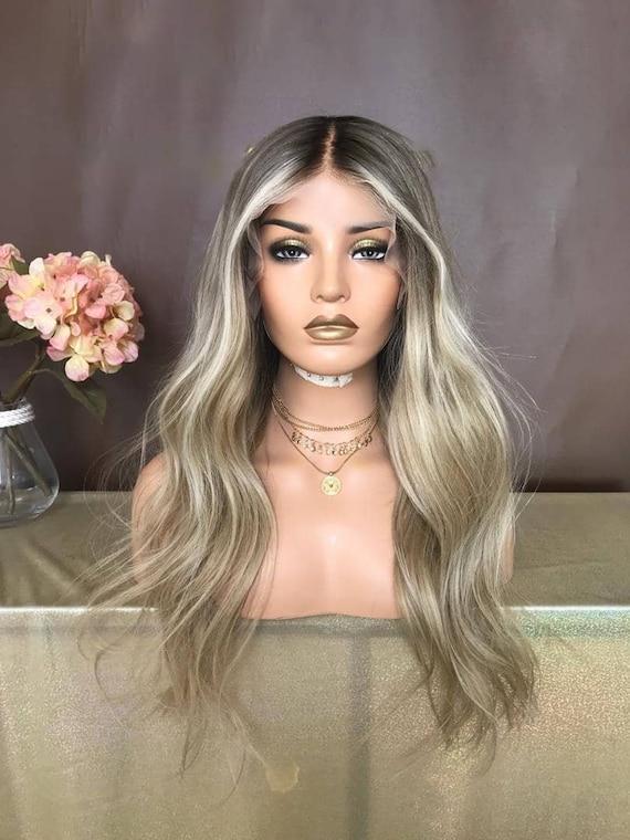 Luxury Wig/Ash Blonde Wig/Full lace Wig/Human