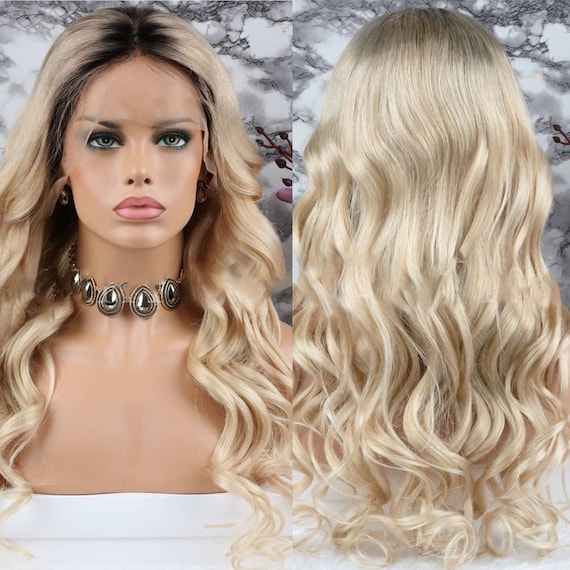 130% Density Blonde Wig Full lace Wig Curly Wig Womens  88fa5fdac7