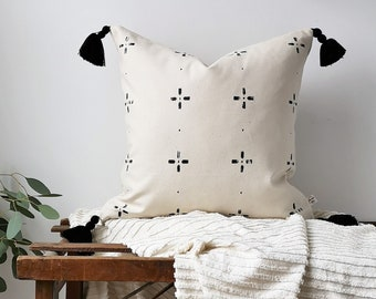 MITSOU X ETSY Cushion Cover  With Motifs and Black Glands, 20''X20'', handmade.