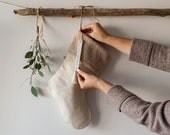 JoJo Fletcher x Etsy The Natural Lin Christmas Stocking - Sherpa Beige - FEST COLLECTION