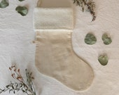 JoJo Fletcher x Etsy The Natural Lin Christmas Stocking - White Sherpa - FEST COLLECTION