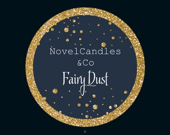 Fairy dust soy wax candle
