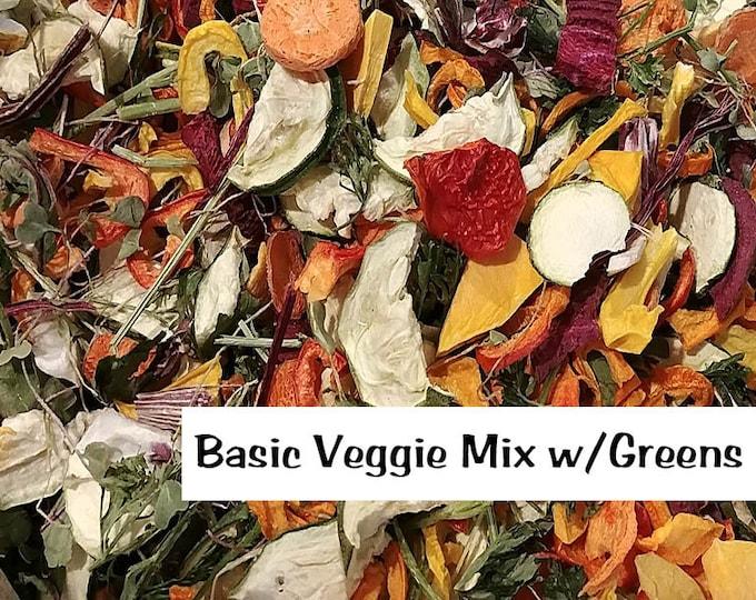 Really Raw for Birds® FREEZE DRIED CHOP for Birds | Organic Veggies | 2oz Apprx. 3-4 Cups