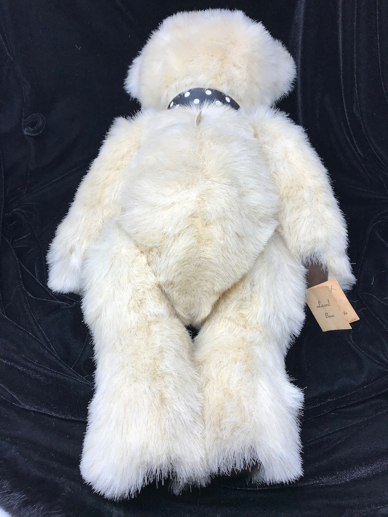 Collectible Rare 1991 Laurel Robinson Custom Made Bear Commander Perry LAUREL BEARS Handmade Large Teddy Bear 22 inches signed with TAG