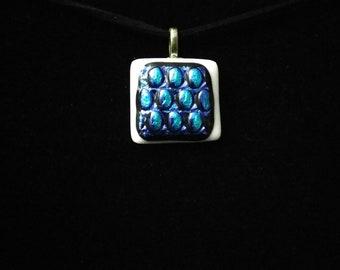 Square Dichroic Glass pendant