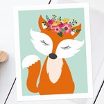 Fox Nursery Printable Wall Art – Custom Order for Amy
