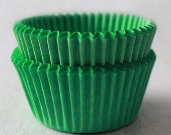 Green Cupcake Liners, Greaseproof cupcake liners, Fade resistant cupcake liners