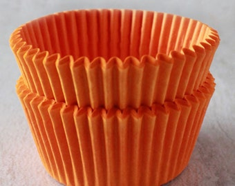 Orange Cupcake Liners   Greaseproof Cupcake Liners