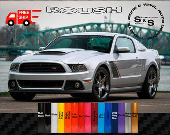 Shelby Racing Wreath Decal Sticker logo American Ford Mustang Pair