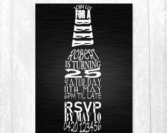 Beer Birthday Invitations Printable Invitation Male 21st