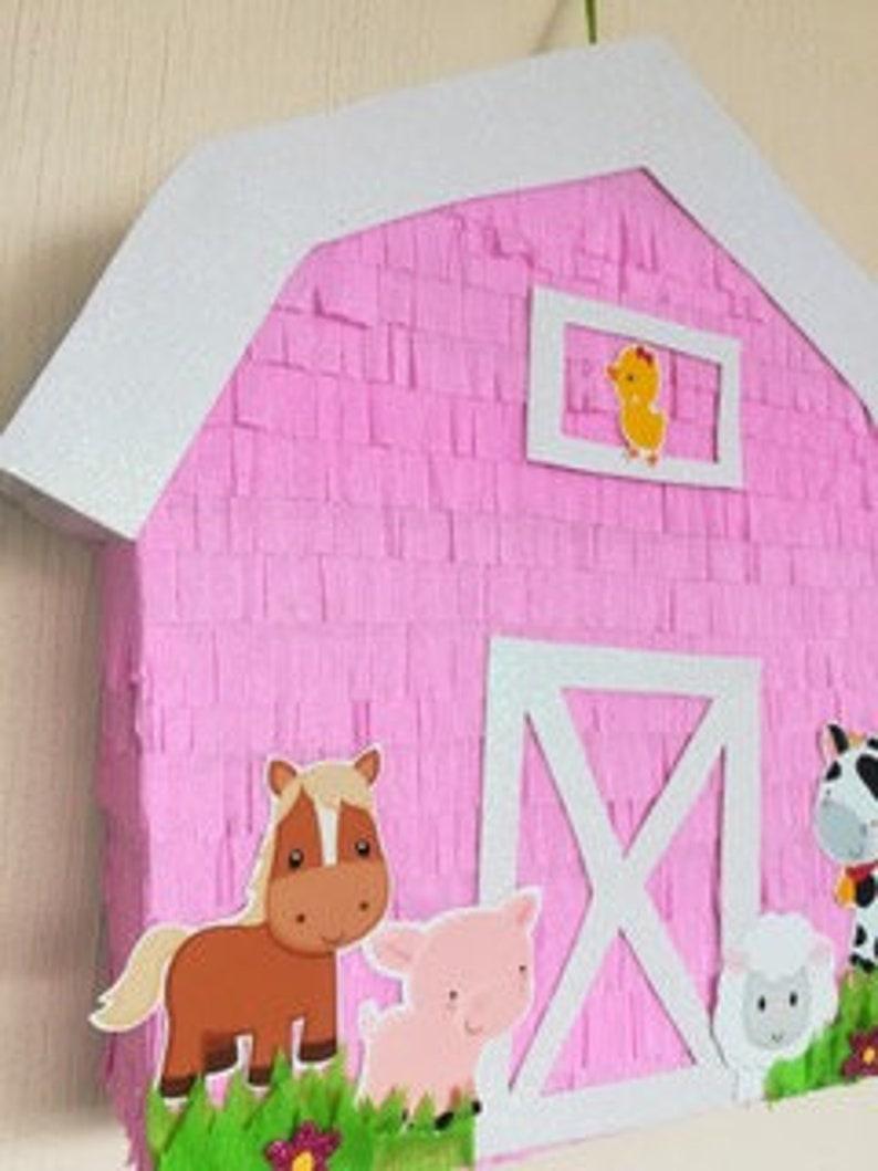 barn pinata farm piñata cow birthday party farm party etsyimage 0