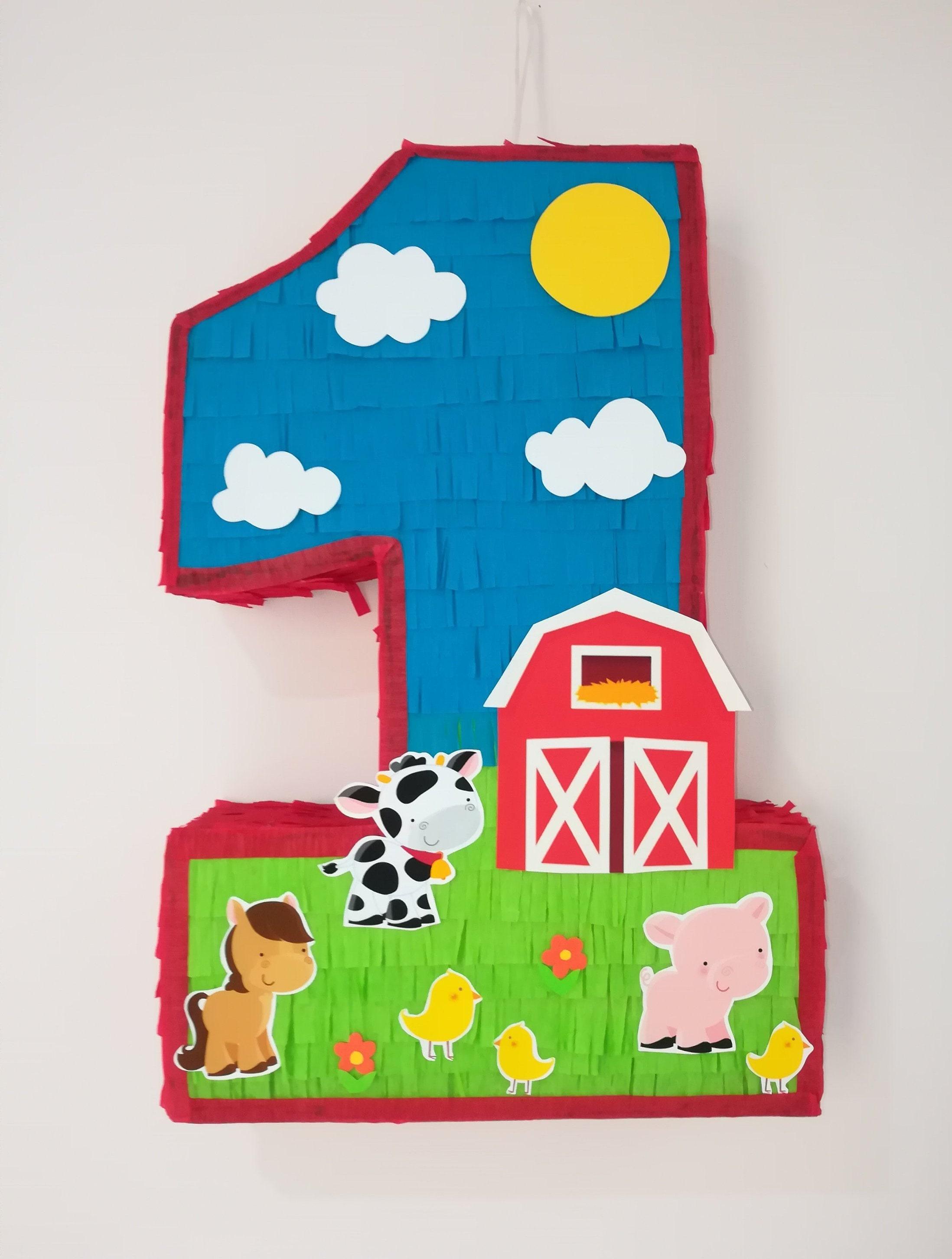 baby farm pinata farm number piñata farm birthday party barn etsy50