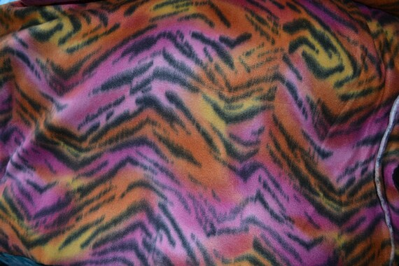 Tiger Animal Skin Fleece Fabric   by the Yard
