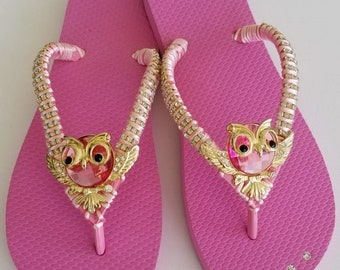 dfbc5e726 Flip Flop with Pink Owl