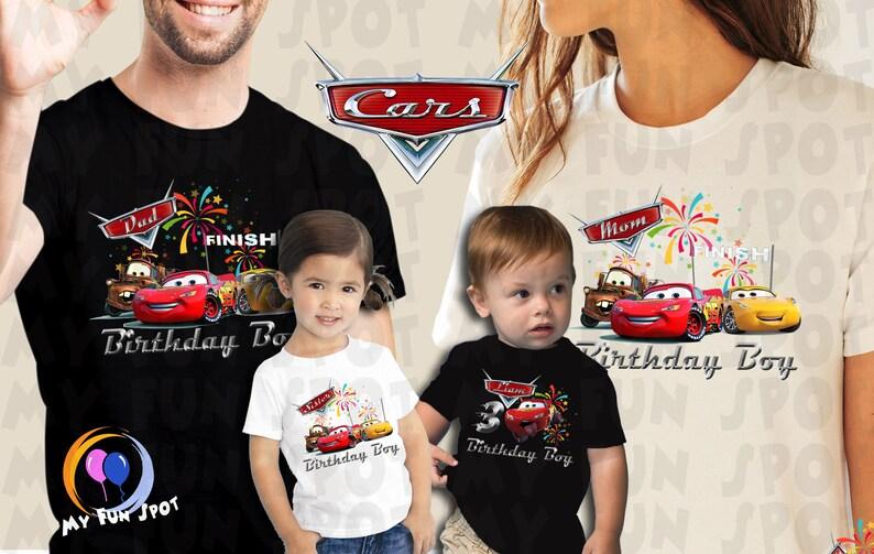 Disney Cars 3 Birthday Party Shirt Boy