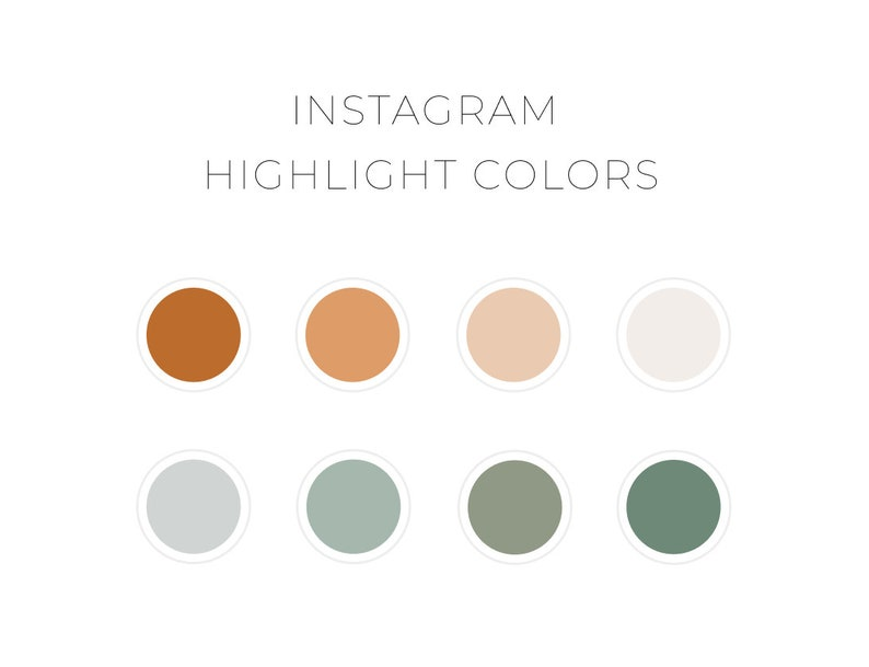 Instagram Highlight Cover Color Palette Earthy Neutrals Warm Etsy