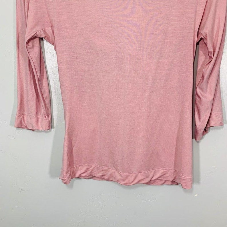Vintage Y2K Express Pink Soft Stretchy Knotted Front V-Neck Top