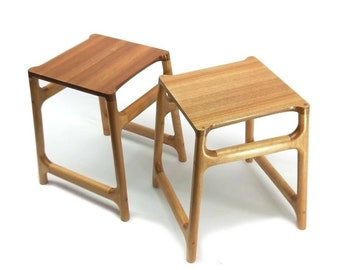 Short Hand Stool by Wood and Wedge. Handmade in Lorne,  Great Ocean Road by William Butler