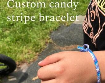 Custom Candy Stripe Bracelet