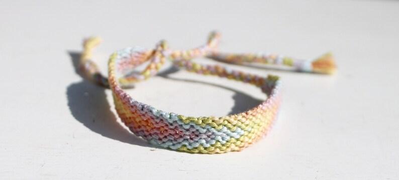 Pastel Rainbow Ombre Woven Bracelet Pattern Bracelet Friendship Bracelet String Bracelet