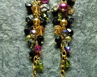 Artistic Earrings made from Czech Glass