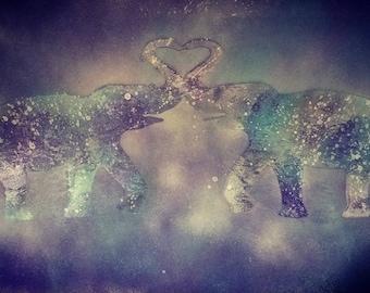 Elephant Spray Paint Art