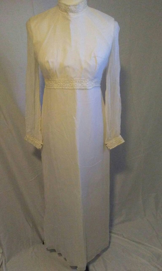 1960s Vintage Dress- Wedding Dress Crepe Wedding D