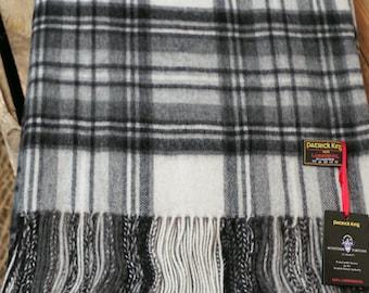 Stewart Grey Dress Lambswool Blanket
