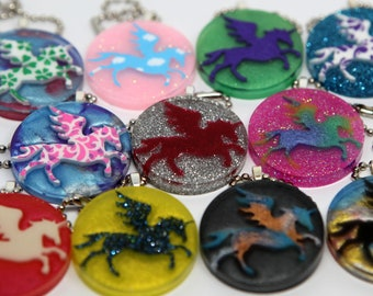 Pegasus unicorn key chain (available in several colors!)
