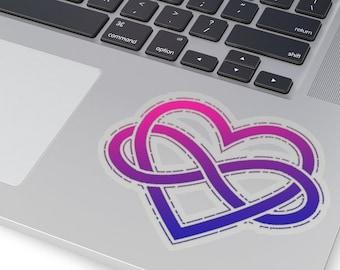 Bi Poly Pride Infinity Heart Kiss-Cut Sticker