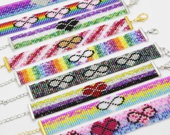 Beaded Infinity Heart/Polyamory Bracelet (several styles available!)
