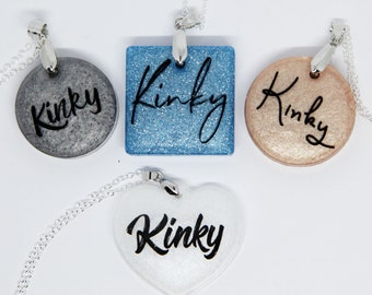 Kinky necklace (available in several colors!)