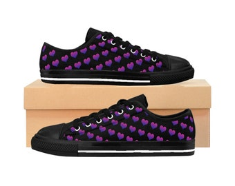 Bi Pride Hearts Women's Sneakers