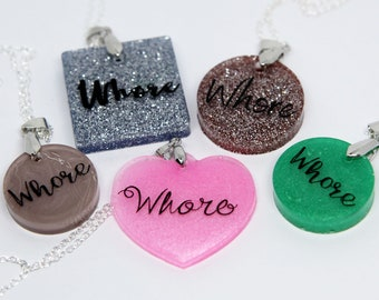 Whore necklace (available in several colors!)