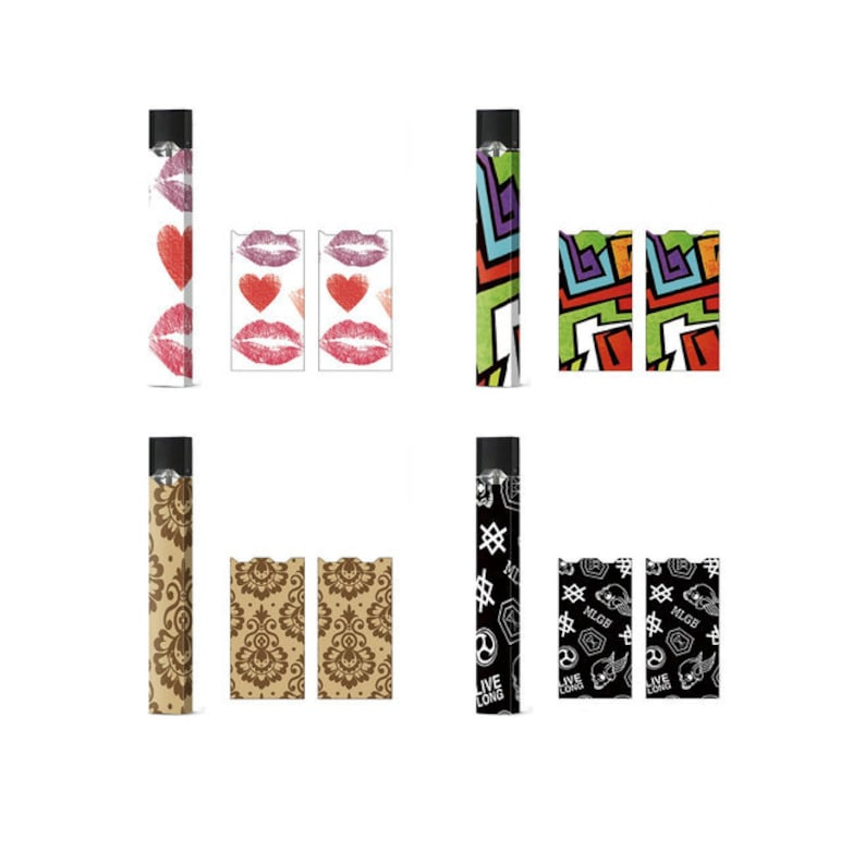 4 Wrap Pack JUUL Wrap/Skin/Decal (Full Wrap for Juul) Limited Edition Wraps