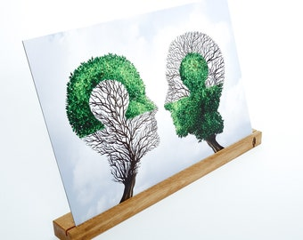 Picture holder kadro granda   Photo ledge, oak solid wood, 65 x 7,7 x 4 cm - Handmade in Germany - Holzbutiq