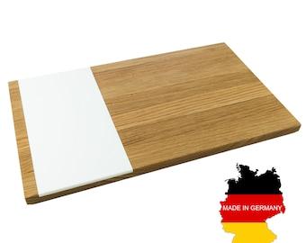 Cutting board pano   kitchen board - oak wood, acrylic stone, 50 x 30 x 2 - Holzbutiq   Handmade in Germany
