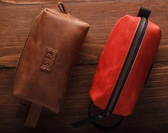 Leather dropp kit Toiletry Bag Groomsman Gift Shave Kit Leather Toiletry Bag  Leather Dopp Kit Leather Travel Bag Dopp Kitt for men travel ac85d516ef